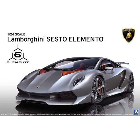 AOSHIMA 010747 Lamborghini Sesto Elemento 1/24