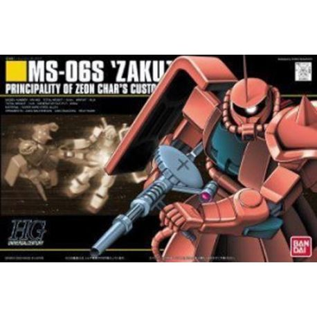 Bandai MS-06S Zaku II Char's HGUC 032 High Grade Gundam 1/144