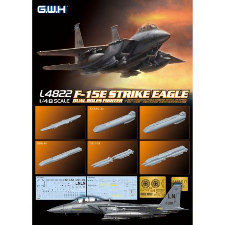 Great Wall Hobby L4822 U.S. Air force F-15E Strike Eagle Dual-Roles Fighter