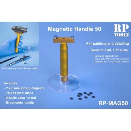 RP TOOLZ- impugnatura magnetica con base in plastica e 10 dischi in acciaio