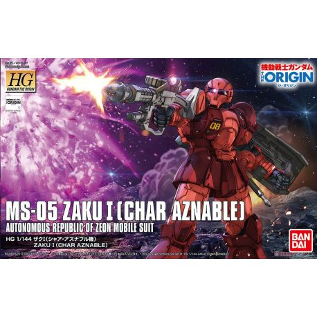 BANDAI 54220 HG ZAKU MS-05 CHAR AZNABLE THE ORIGIN 015 1/144 HIGH GRADE