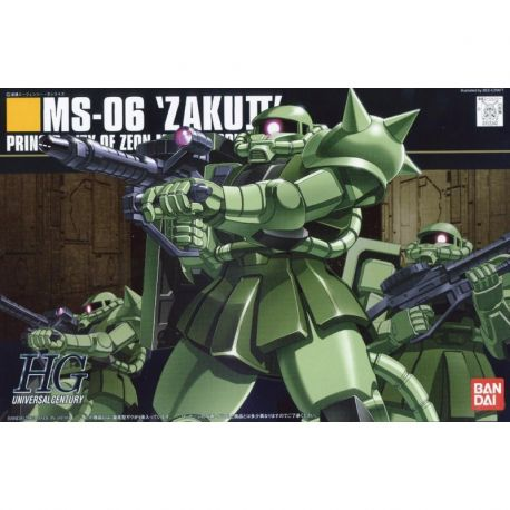 BANDAI 24967 HGUC MS-06 ZAKU II MASS PRODUCTION TYPE 1/144 HIGH GRADE UNIVERSAL CENTURY