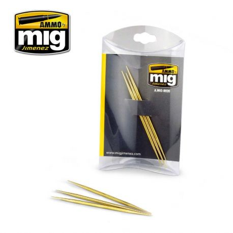 Ammo of Mig 8026 Set di 3 stuzzicadenti in ottone