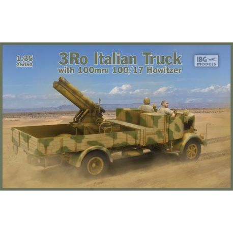 IBG MODELS 35053 Camion italiano 3Ro con cannone 100/17 100mm