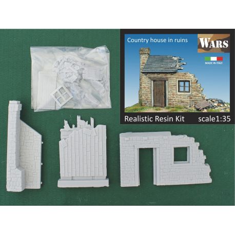 WARS COUNTRY HOUSE IN RUINS 1/35