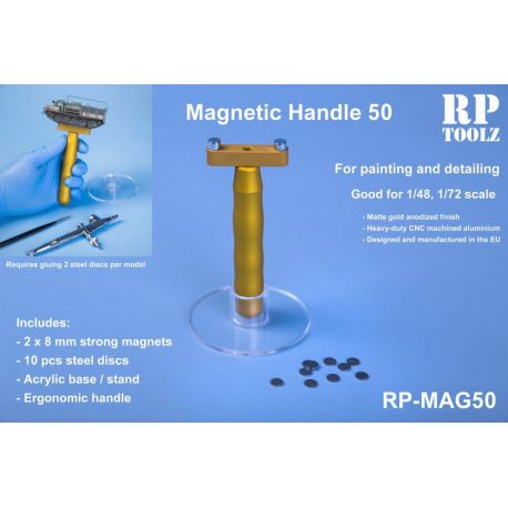 RP TOOLZ- Mag50 , Magnetic handle with acrylic basement