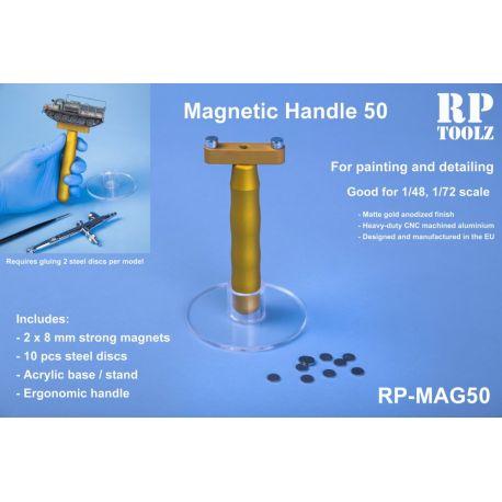 RP TOOLZ MAG50- impugnatura magnetica con base in plastica e 10 dischi in acciaio