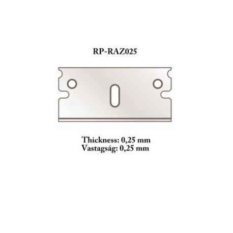 RP TOOLZ Razor blade 0,25 mm 5 pcs