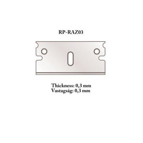 RP TOOLZ Razor blade 0,30 mm 5 pcs