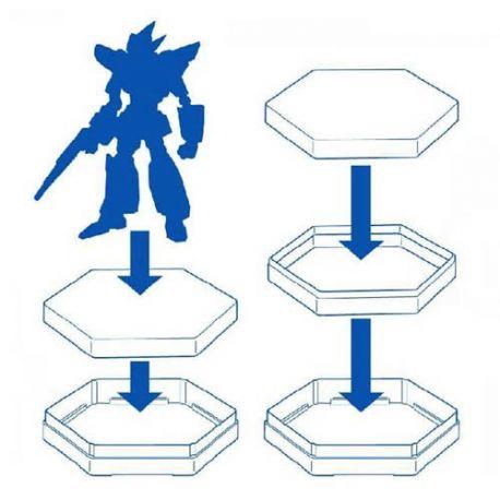 MASTER TOOLS 09963 Basetta esagonale per Gundam