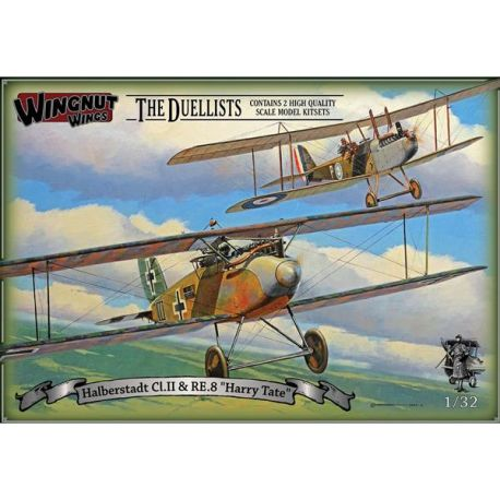 "Wingnut Wings 32804 Halberstadt Cl.II & RE.8 ""Harry Tate"" The Duellists (2 KIT per box)"
