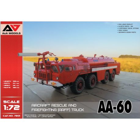 A&A Models 7201 AA-60 Aircraft Rescue & Firefighting (ARFF) Truck 1/72
