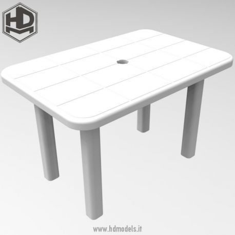 HD Models Resin rectangular table 1/35