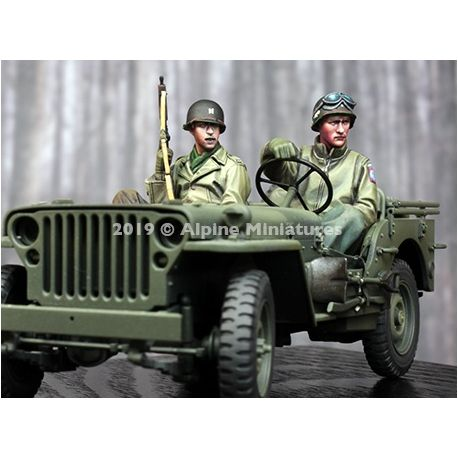Alpine Miniatures 35262 WW2 US Jeep Crew Set - 2 figs