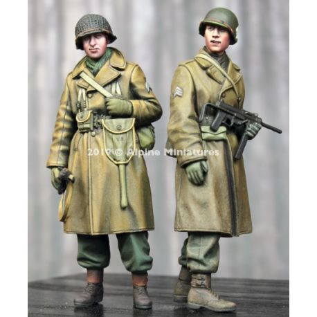 Alpine Miniatures 35261 WW2 US Infantry Winter Set - 2 figs