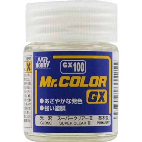 Mr. Color GX100 Super Clear III 18m