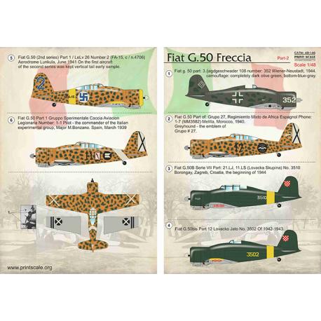 PRINT SCALE 48146 Fiat G.50 Freccia Part-2