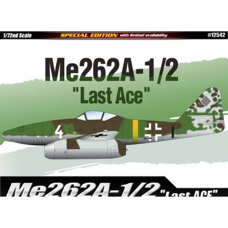 """ACADEMY 12542 Me-262A-1/2 """"Last Ace"""" 1/72"""