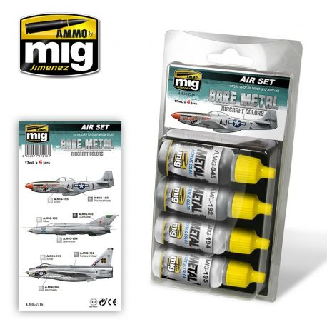 AMMO of Mig A.MIG-7216 BARE METAL AIRCRAFT COLORS Set