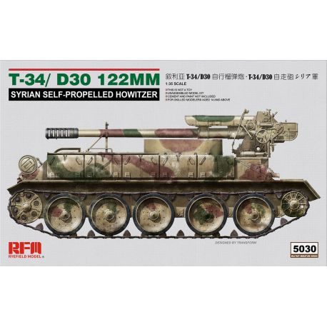 RYE FIELD MODEL 5030 T-34/D30 122MM Syrian Self-Propelled Howitzer 1/35