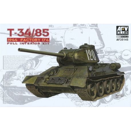 AFV Club 35145 T-34/85 Model 1944 Factory No.174 (Full Interior Kit) 1/35