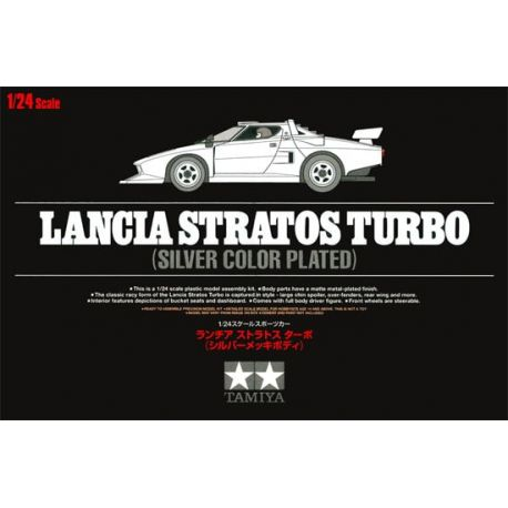 Tamiya 25418 Lancia Stratos Turbo Silver Color Plated