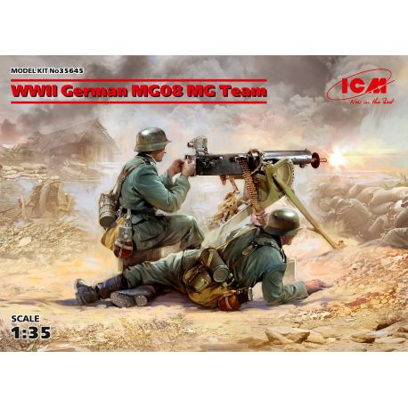 ICM 35645 WWII German MG08 MG Team (2 figures) 1/35