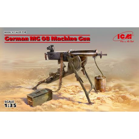 ICM 35710 German MG08 Machine Gun (100% new molds)