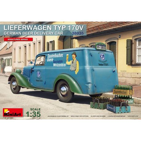 MINIART 38035 LIEFERWAGEN TYP 170V GERMAN BEER DELIVERY CAR 1/35