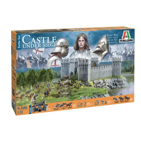 ITALERI 6185 CASTLE UNDER SIEGE - 100 Years' War 1337/1453 - BATTLESET