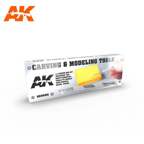 Ak Interactive 9100- CARVING TOOLS DELUXE BOX