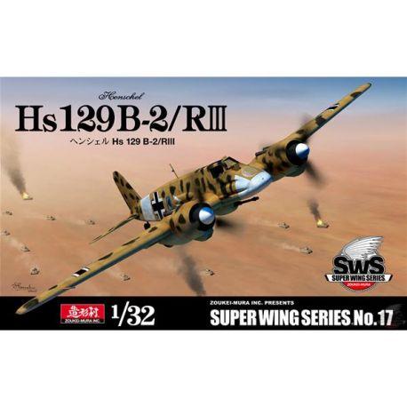 ZOUKEI-MURA SWS-017 Henschel Hs 129 B-2/RIII 1/32