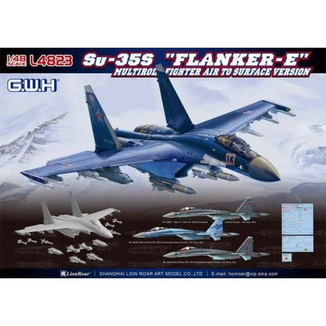 "Great Wall Hobby L4823 Su-35S ""Flanker-E"" Multirole Fighter Air to Surface Version 1/48"