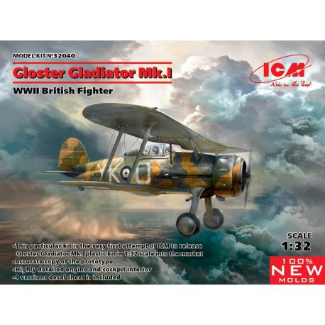 ICM 32040 Gloster Gladiator Mk.I 1/32