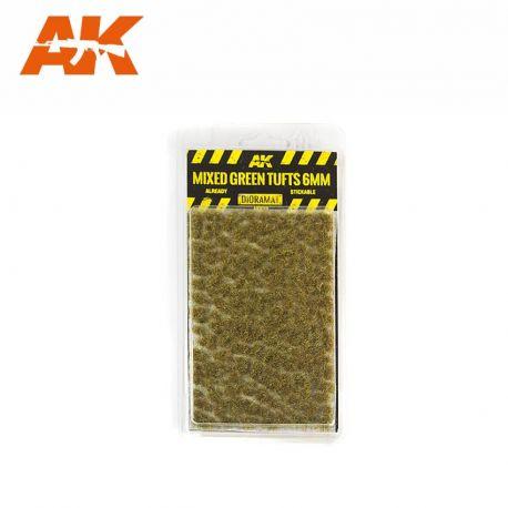 AK INTERACTIVE 8119- Ciuffi d'erba verde scuro 6mm