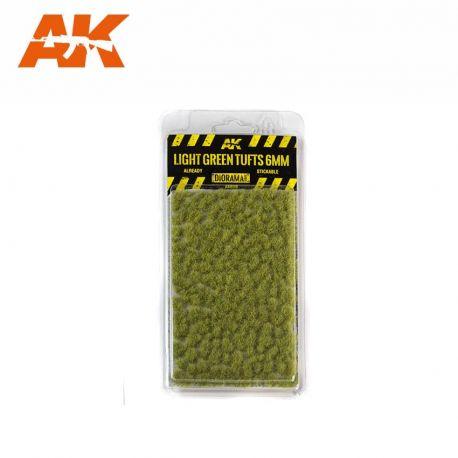 AK INTERACTIVE 8118- Ciuffi d'erba verde chiaro 6mm