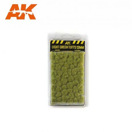 AK INTERACTIVE 8127- Ciuffi di erba verde chiaro 12mm