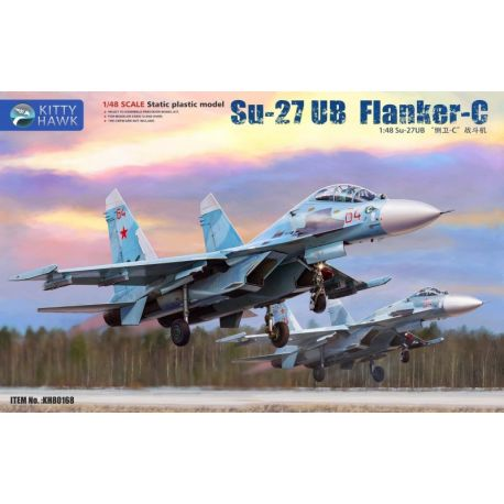 KITTY HAWK 80168 Su-27UB Flanker-C 1/48