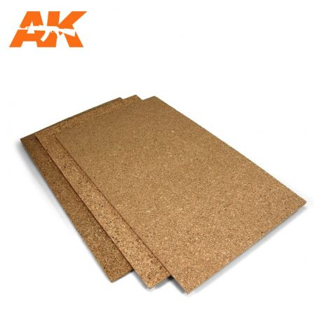 AK INTERACTIVE 8046- CORK SHEET – FINE GRAINED 200X300X1MM