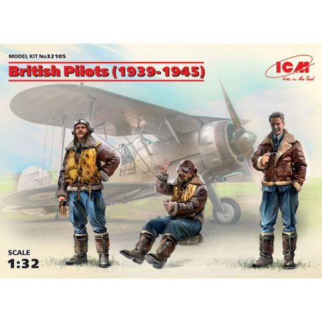 ICM 32105 British Pilots (1939-1945) (3 figures)
