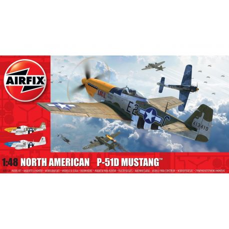 AIRFIX A05138 North American P51-D Mustang (Filletless Tails) 1/48
