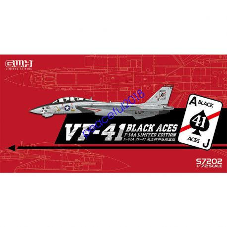"Great Wall Hobby S7202 US Navy F-14A VF-41 ""Black Aces"" /w special PE & Decal"