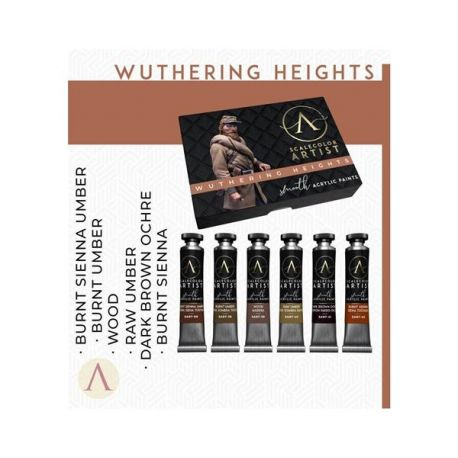 SCALE75- set of 6 acrylic paints in 20ml tube, artistic range- WUTHERING HEIGHTS