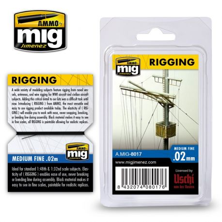 AMMO OF MIG 8018- RIGGING – SUPER FINE 0.01 MM