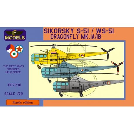 LF MODELS 7230 SIKORSKY S-51/WVS-51 DRAGONFLY ITALY, YUGOSLAIA, HOLLAND 1/72