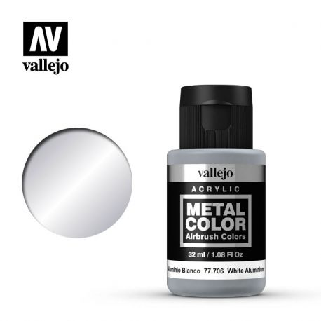 VALLEJO METAL COLOR 77706- WHITE ALUMINIUM