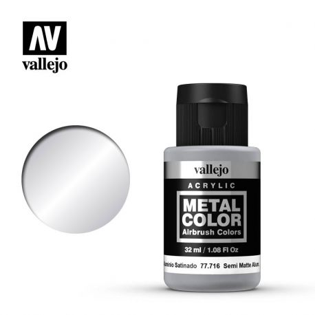 VALLEJO METAL COLOR 77716- SEMI MATT ALUMINIUM