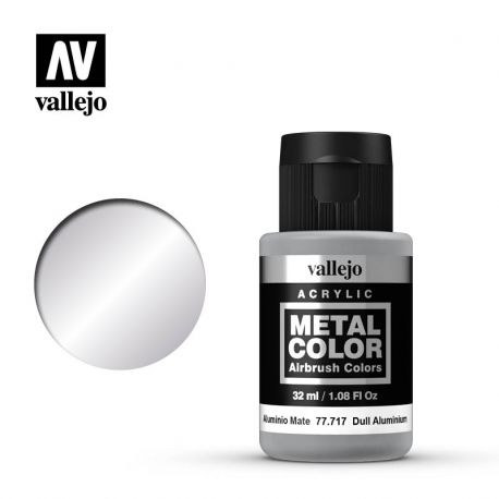 VALLEJO METAL COLOR 77717- DULL ALUMINIUM