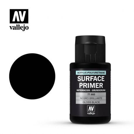 VALLEJO METAL COLOR 77660- SURFACE PRIMER GLOSS BLACK