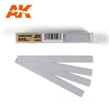 AK INTERACTIVE 9025-SANDPAPER GRAIN 800 (DRY)